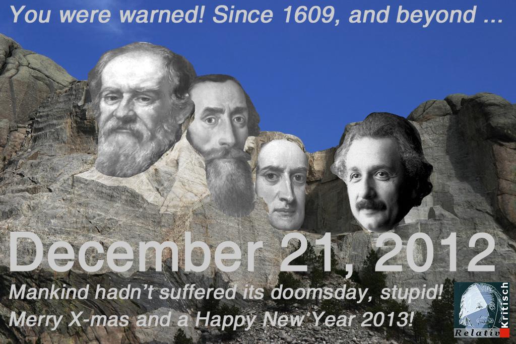 RelativKritisch - Weihnachtskarte Doomsday 2012