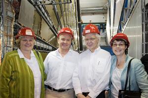 Otto E. Rössler am LHC, Juli 2008 (Quelle: CERN)