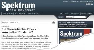Spektrum der Wissenschaft und E. Scheunemann