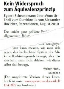 Spektrum der Wissenschaft, Oktober 2010