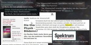 Alexander Unzicker - Rezensionen