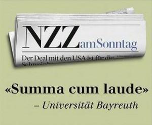 NZZ Werbeanzeige