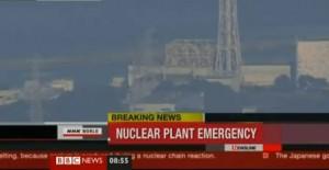 Fukushima I nach der Explosion