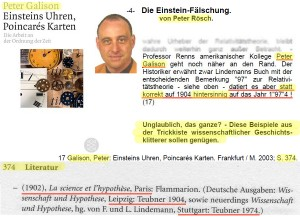Peter Rösch, Nachbetrachtung: Peter Galison