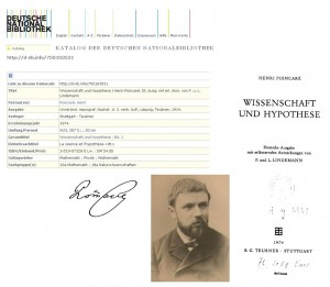 Henri Poincaré, Wissenschaft und Hypothese, B. G. Teubner, Stuttgart 1974
