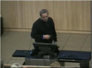 Dario Autiero (CNRS), 23.09.2011 am CERN