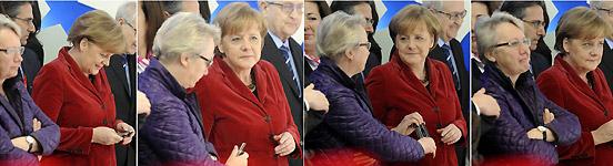 Bundeskanzlerin Angela Merkel, Bundesministerin Annette Schavan auf der CeBIT 2011