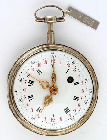 Taschenuhr, Frankreich, um 1795, Deutsches Uhrenmuseum Furtwangen - Credit: PTB