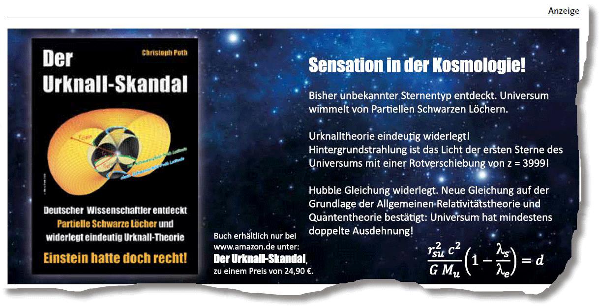 """Christoph Poth: Kommerzielle Anzeigenschaltung in """"Sterne und Weltraum"""", 12/2013"""