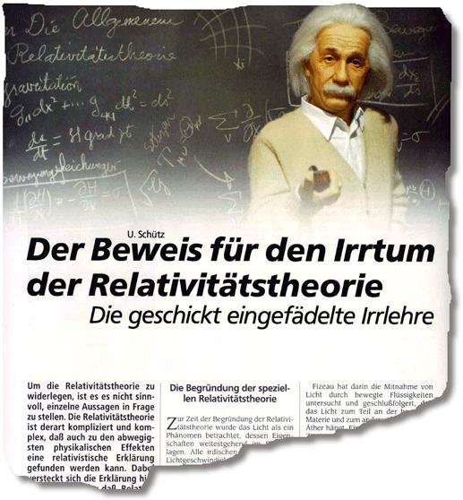U. Schütz, Beweis für den Irrtum der Relativitätstheorie, magazin2000plus 354, 2014