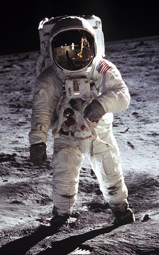 Buzz Aldrin auf dem Mond, 21.07.1969 (Credit: NASA)