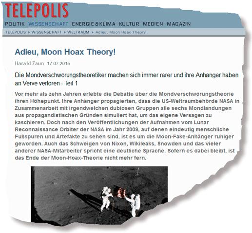 """Harald Zaun - """"Adieu, Moon Hoax Theory!"""""""