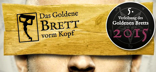 "Das ""Goldene Brett vorm Kopf"" - Verleihung 2015"