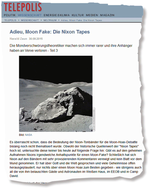 "Harald Zaun - ""Adieu, Moon Fake: Die Nixon Tapes"""