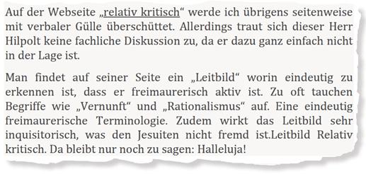 Christoph Poth: Position zu RelativKritisch, Januar 2017